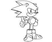 Coloriage super sonic 42