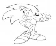 Coloriage sonic 140
