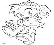 Coloriage sonic 225
