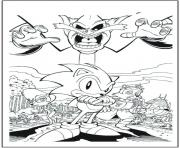Coloriage sonic 147