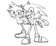 Coloriage sonic the hedgehog dessin