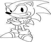 Coloriage sonic the hedgehog charging dessin