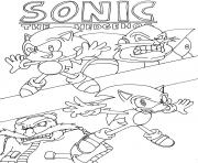 Coloriage sonic 20