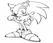 Coloriage sonic 33