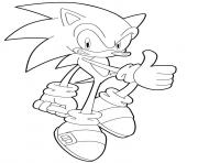 Coloriage sonic 184