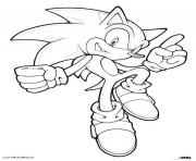 Coloriage sonic 70