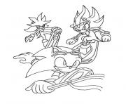 Coloriage sonic shadow the Hedgehog dessin