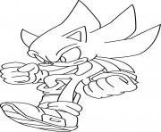 Coloriage super sonic 22