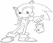 Coloriage super sonic 83