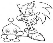 Coloriage sonic 185