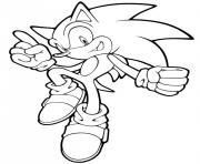 Coloriage sonic 227