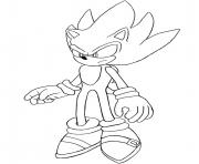 Coloriage super sonic 2