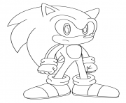 Coloriage sonic 130