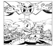 Coloriage sonic 139