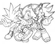 Coloriage super sonic 100