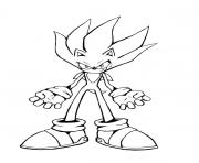 Coloriage super sonic 4
