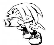 Coloriage sonic 22