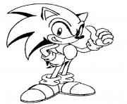 Coloriage sonic 19