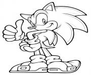 Coloriage sonic 80