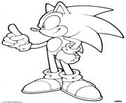 Coloriage sonic Yellow Wisps dessin