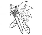 Coloriage super sonic 90