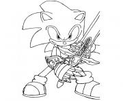 Coloriage sonic 16