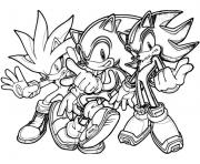 Coloriage captivating classic sonic dessin