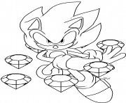 Coloriage super sonic 5