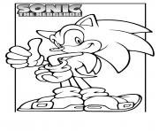Coloriage super sonic 61