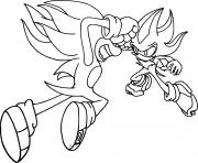 sonic shadow dessin à colorier