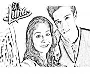 Coloriage soy luna photo a colorier ambre