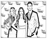 disney channel soy luna 3 dessin à colorier