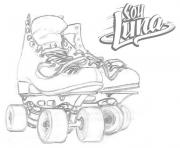 Coloriage soy luna patin facile a colorier