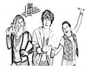 trio soy luna 6 dessin à colorier