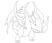 coloriage dracaufeu y pokemon