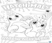 Hatchimals nouvel an 2017 hatchy  dessin à colorier