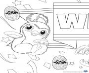 Coloriage Hatchy hatchimals penguala rose