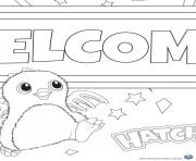 colorier Hatchy hatchimals jouet  dessin à colorier
