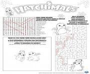 hatchimals mot croise jeux solutions  dessin à colorier