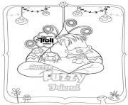 Dreamworks Trolls Fuzzy dessin à colorier