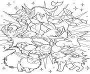 Coloriage Pokemon Eevee Evolutions dessin