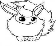 Coloriage flareon eevee evolutions