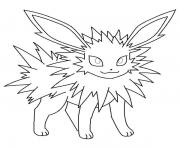 Coloriage jolteon eevee