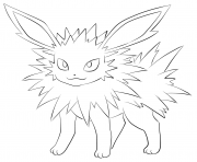 jolteon dessin à colorier