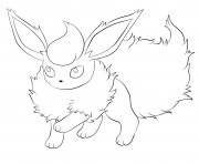 Coloriage flareon