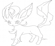 Coloriage leafeon