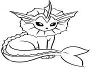 Coloriage vaporeon eevee evolutions
