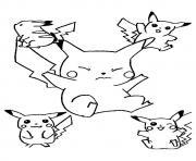 pikachu 134 dessin à colorier