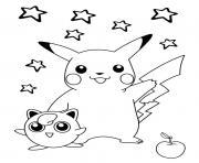 pikachu 176 dessin à colorier