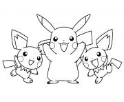 pikachu 116 dessin à colorier